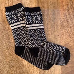 JCrew Snowflake Socks